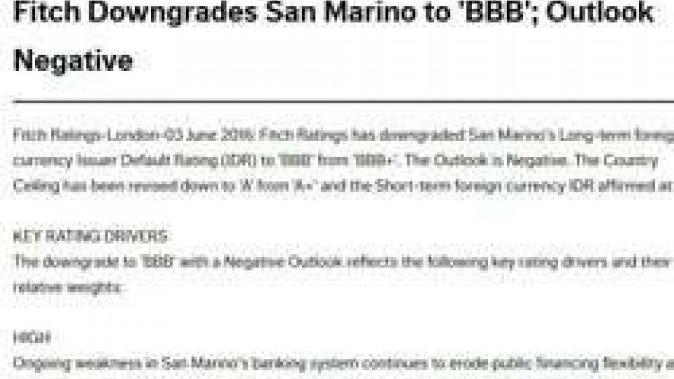 Fitch declassa San Marino