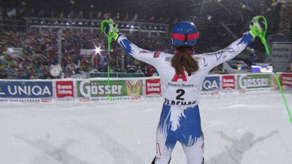 Coppa del Mondo di sci: a Flachau Petra Vlhova si impone su Mikaela Shiffrin