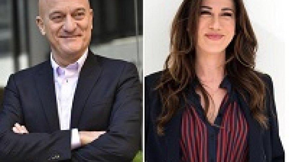 Sanremo, Claudio Bisio e Virginia Raffaele con Baglioni