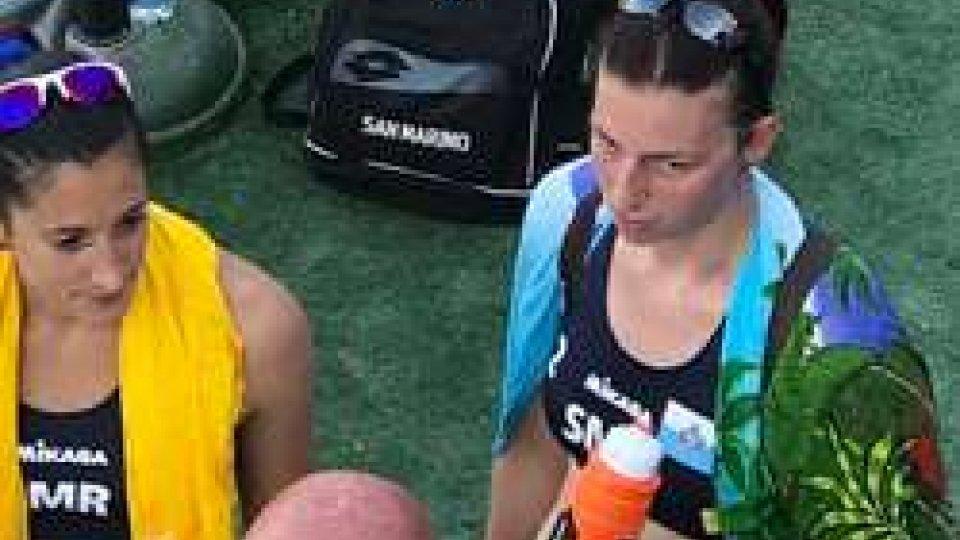 Silvia Bulgarelli e Debora Pini dopo il match