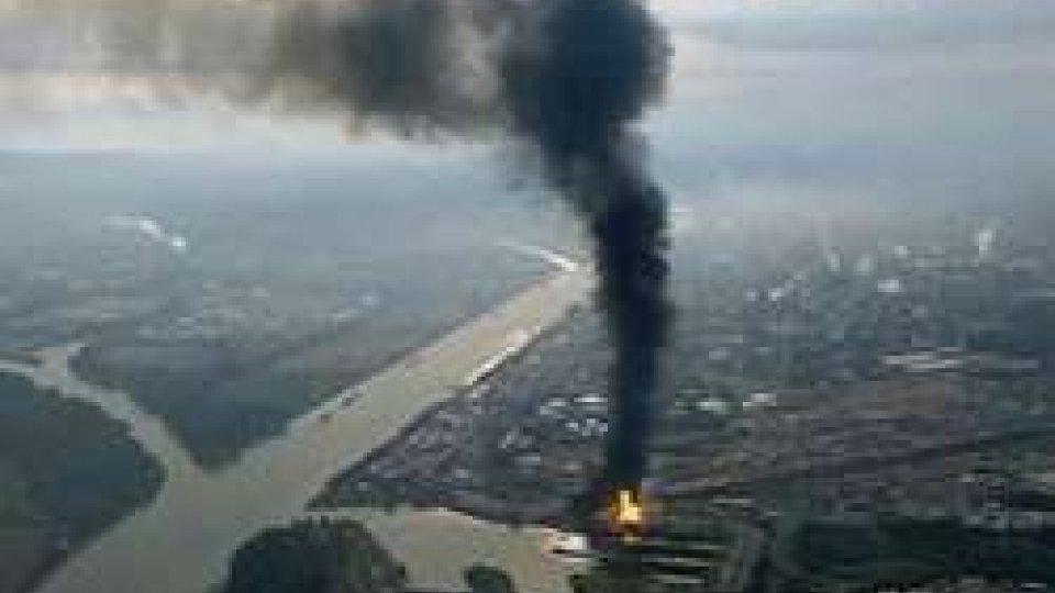 Il fumo proveniente dall'impianto Basf