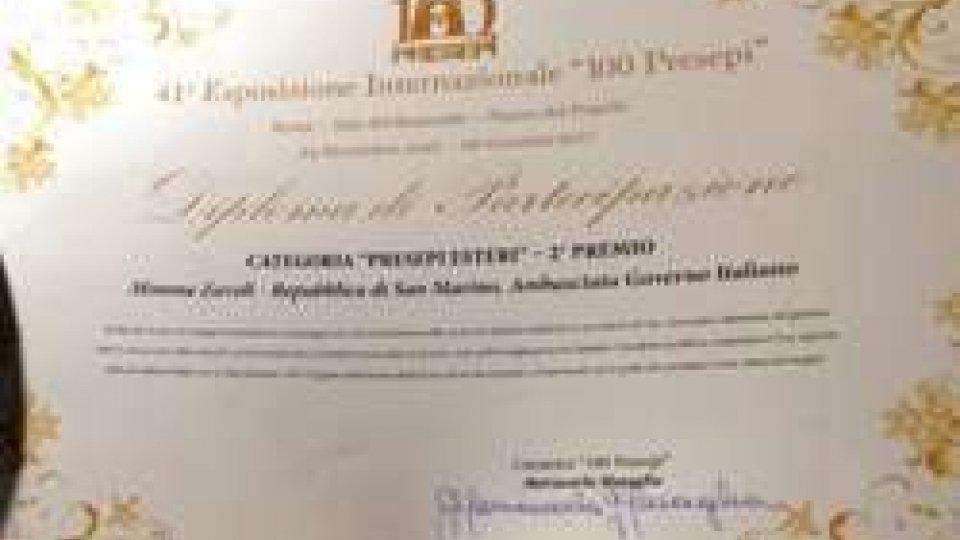Il presepe di Mimma Zavoli vince il secondo premio all'esposizione di Roma