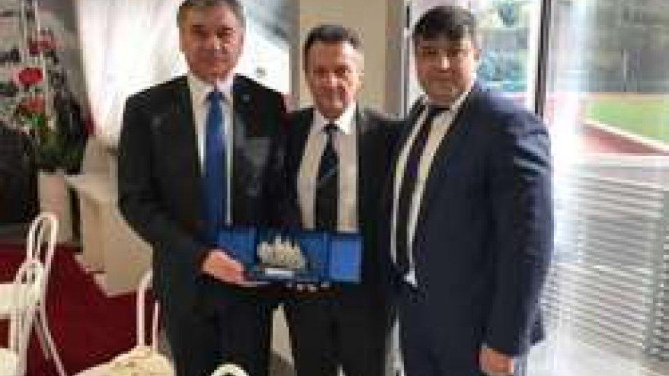 Al San Marino Stadium il banchetto tra delegazione Dirigenti Federali Sammarinesi e Moldavi