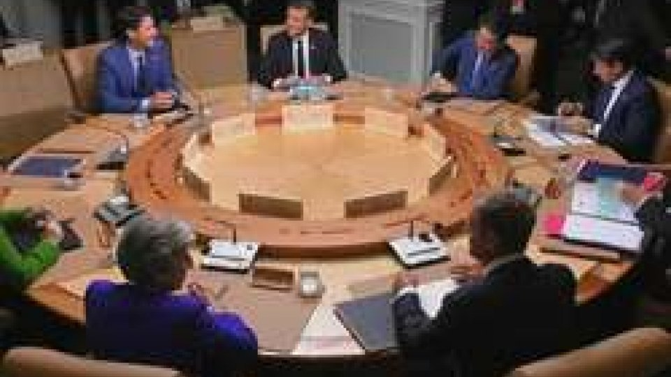 I leader riunitiUltimo giorno del G7 'della discordia'