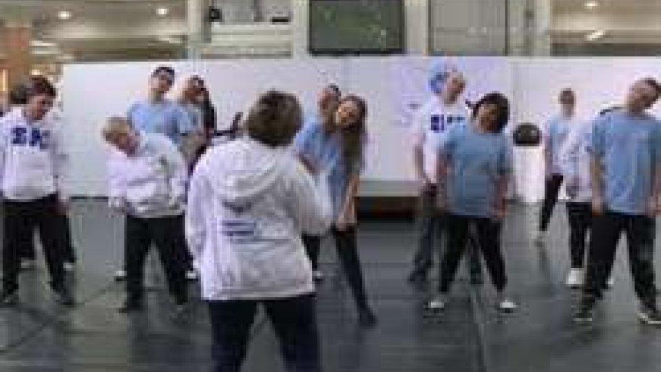 Special Olympics: allenamento degli atleti della danza sportiva al centro Atlante