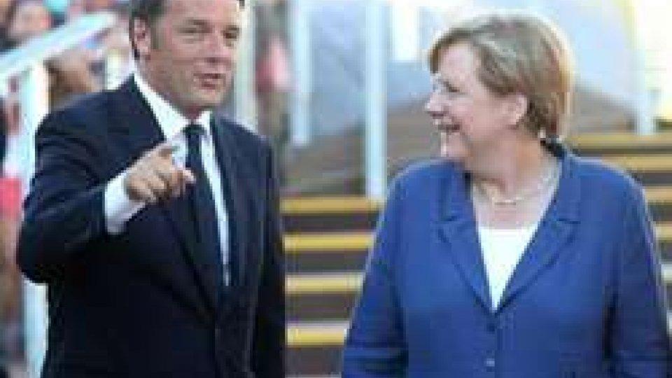Angela Merkel in visita all'Expo
