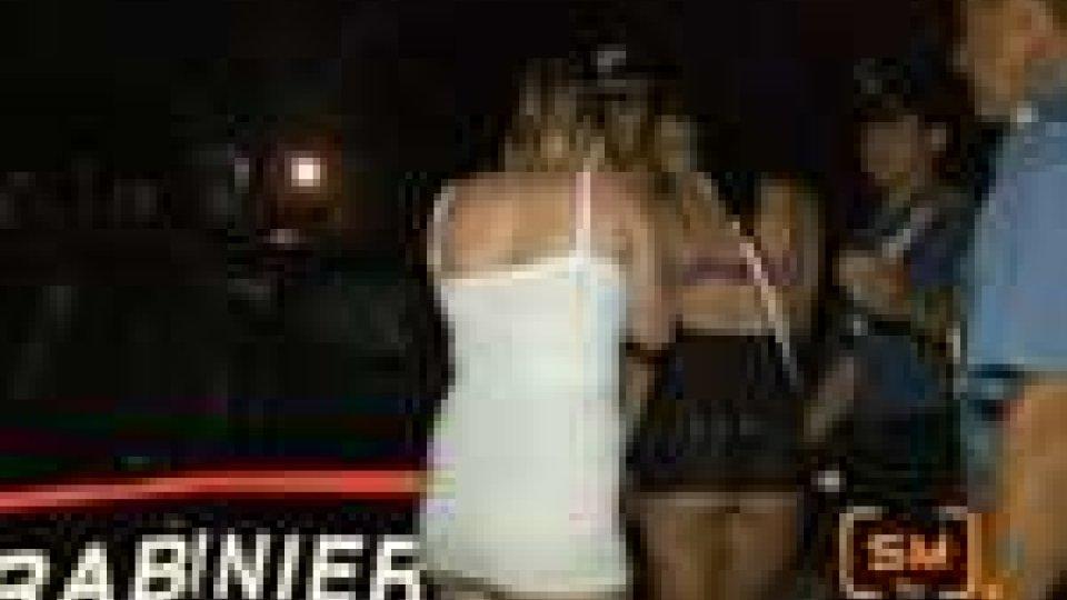 Carabinieri pattugliano il territorio contro la prostituzioneOperazione antiprostituzione dei Carabinieri ieri sera a Rimini