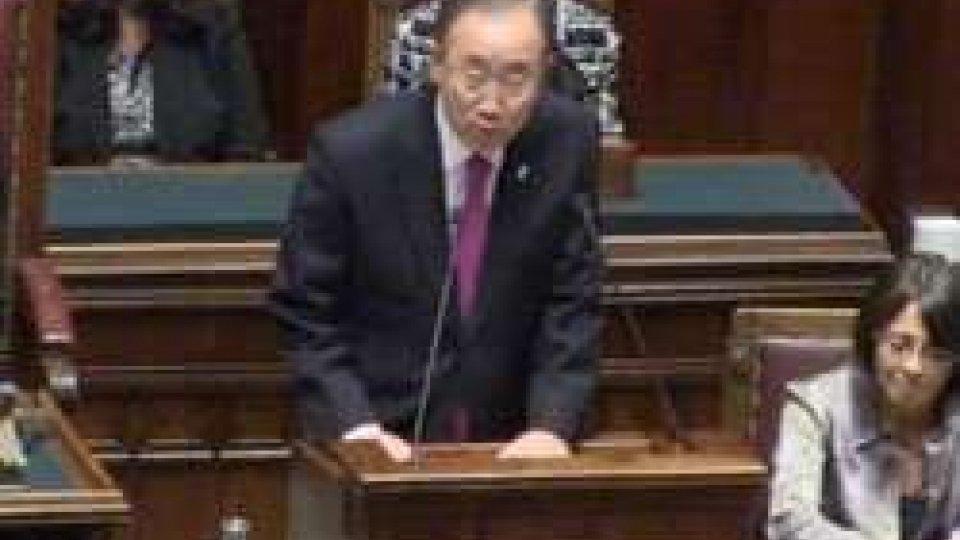 Ban Ki - Moon alla Camera dei Deputati per il 60esimo dell'adesione dell'Italia all'Onu