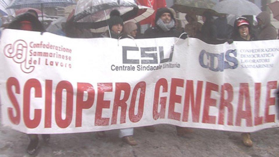 Sciopero generale: lavoratori e pensionati della CSU sul Pianello