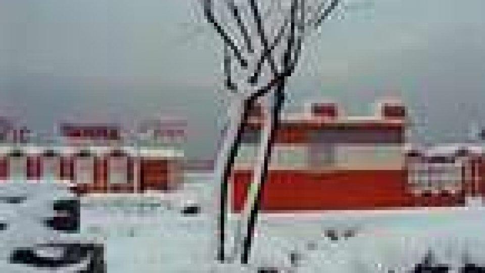 Neve sul Titano: attenzione alla strada