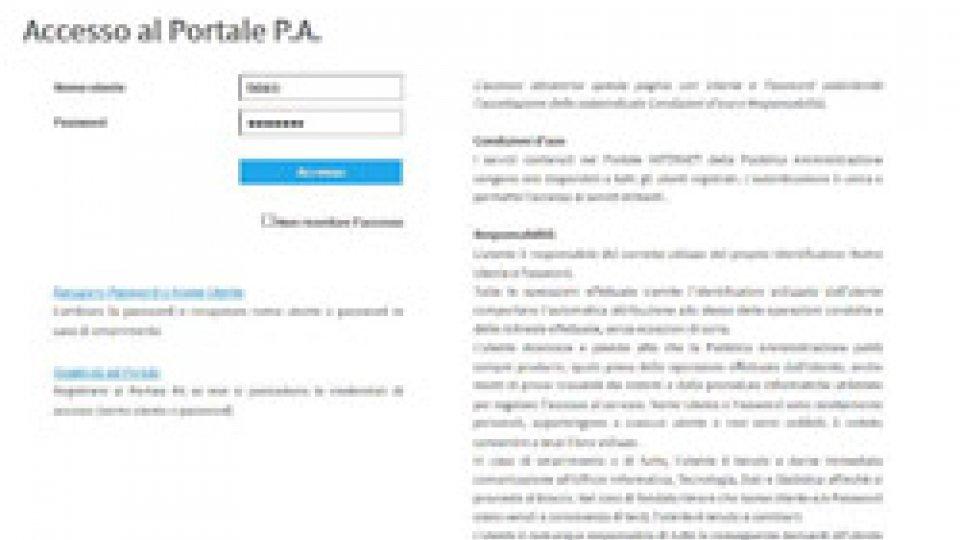 Nuova impostazione grafica portale di login servizi PA