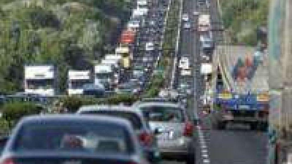 Traffico post ferragosto intenso su tutte le strade