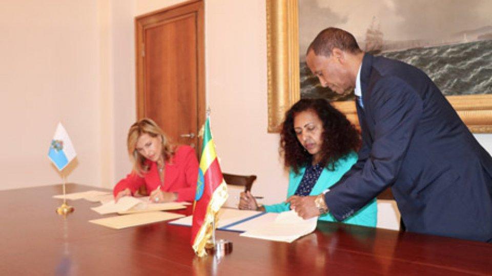 Firmato l'accordo per lo stabilimento di relazioni diplomatiche con l'Etiopia