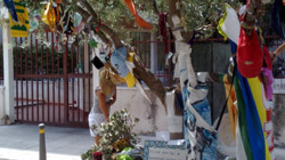 L'albero in memoria di Paolo Borsellino in via d'Amelio, a Palermo