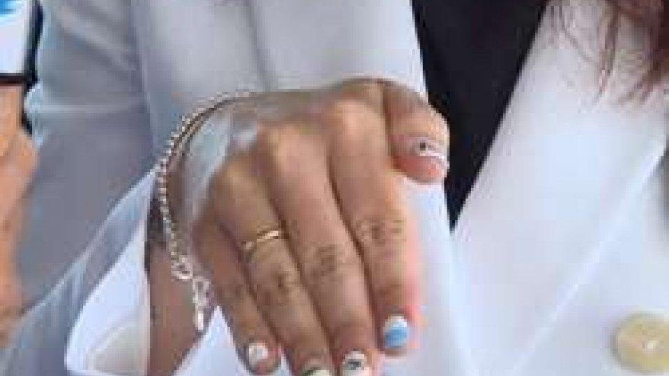 """la mano """"olimpica"""" di Alessandra PerilliRio 2016: c'è già chi è entrato in clima olimpico"""