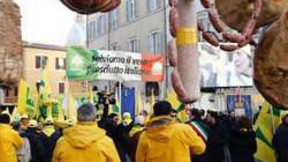 La protesta della Coldiretti a Montecitorio