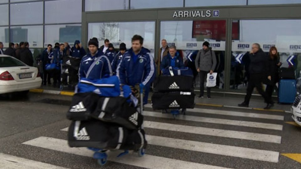 L'arrivo della NazionaleFutsal, qualificazioni Mondiali: San Marino è a Skopje