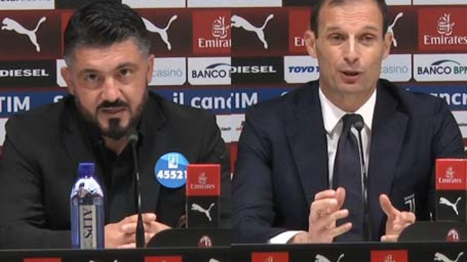 Milan - Juve, Gattuso e Allegri nel post partita