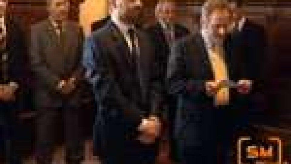San Marino - I Capi di Stato hanno ricevuto l'Associazione Treno Biancoazzurro