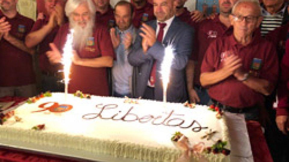 Libertas: i granata di Borgo Maggiore spengono 90 candelineLibertas: i granata di Borgo Maggiore spengono 90 candeline