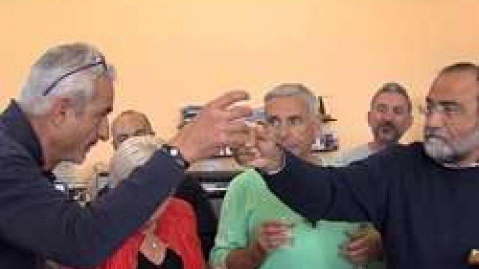 Marco Cardinali brinda con il Dg Carlo Romeo