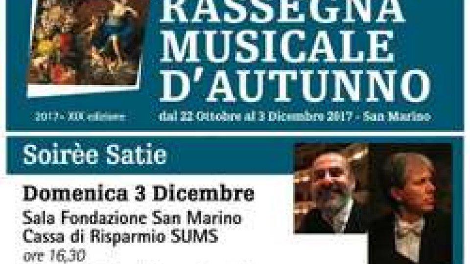 """Locandina """"Soirée Satie"""""""