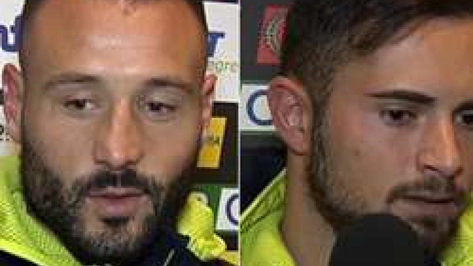 Scognamiglio e SchiavoneSerie B: Gennaro Scognamiglio decide Cesena-Brescia