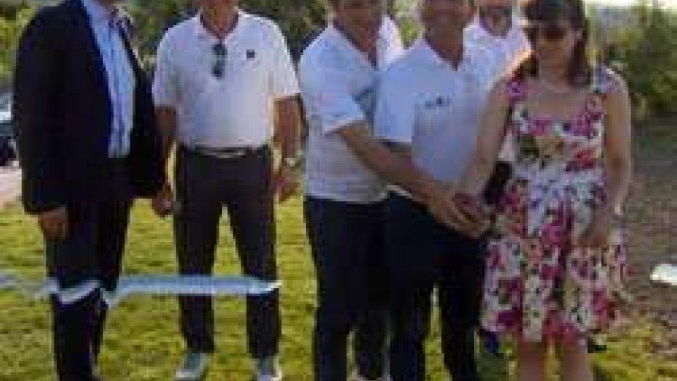 Il taglio del nastroAsset Golf inaugura il campo pratica