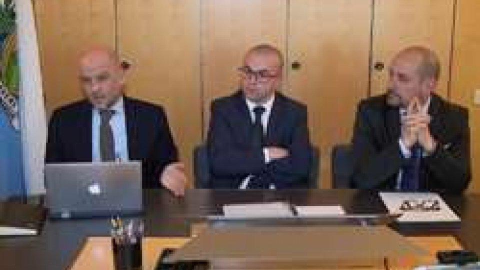 Marco Podeschi, Simone Celli e Franco SantiCodice deontologico giornalisti e mobilità sostenibile al centro del Congresso di Stato