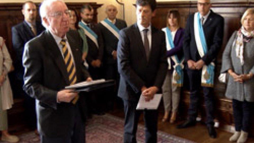 Renato Di Nubila in udienza dalla ReggenzaUn FORUM, in atti, tra padri e figli: generazioni insieme dalla REGGENZA