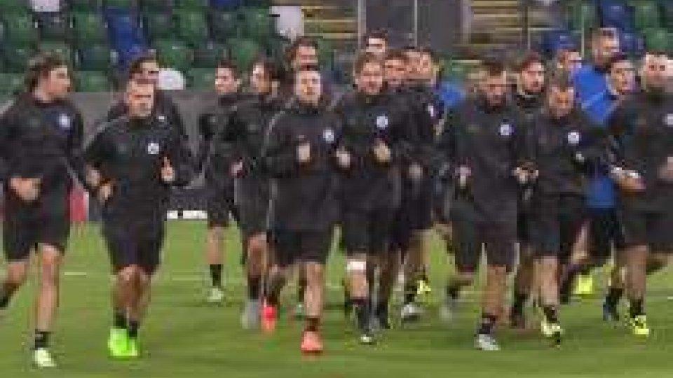 La Nazionale in allenamentoSan Marino a Belfast sognando un'altra Vilnius, ma con lieto fine