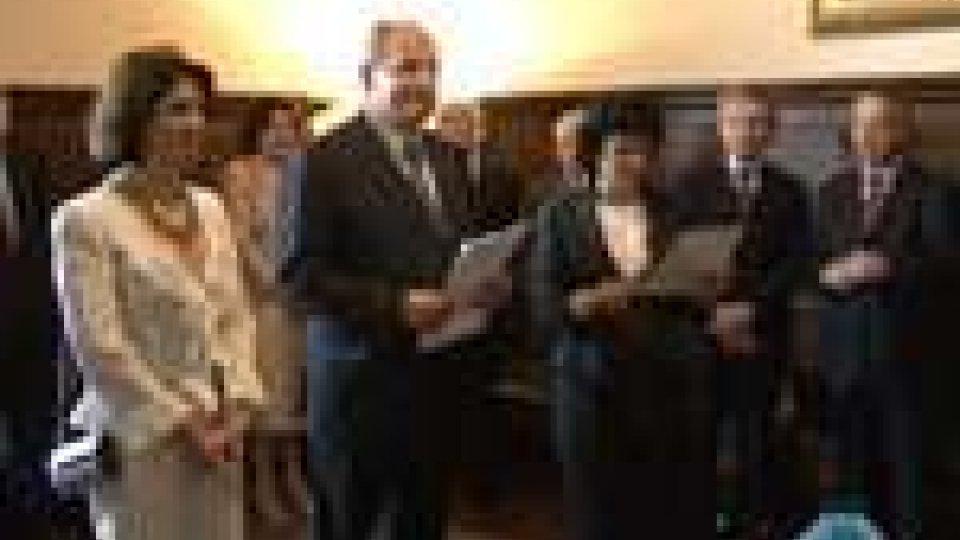 San Marino - A Palazzo presentati quattro nuovi ambasciatoriA Palazzo presentati quattro nuovi ambasciatori