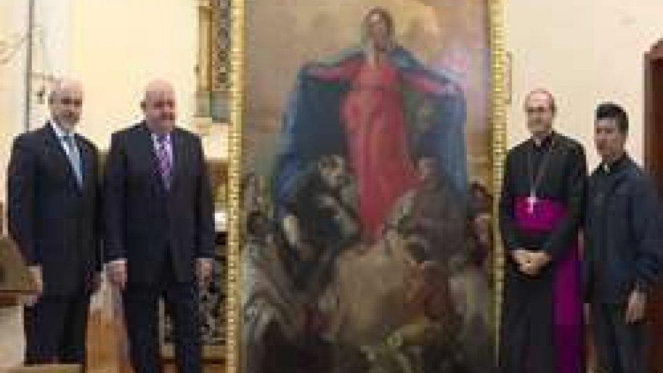 "Montegiardino: restaurata ""La Madonna della Misericordia""""La Madonna della Misericordia"",il lavoro di restauro del quadro di Montegiardino"