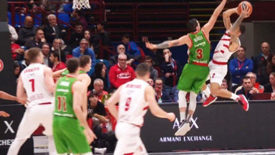 Milano-BaskoniaEurolega, Milano secca anche Baskonia: 93-90