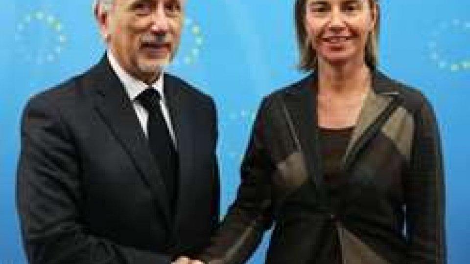 Federica Mogherini e Pasquale Valentini