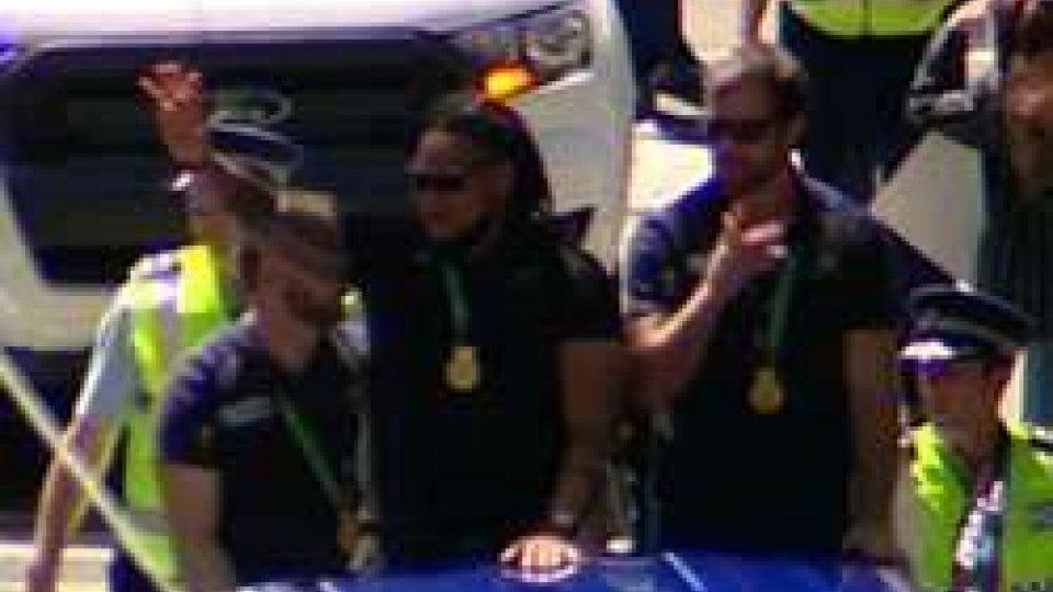 Gli All Blacks tornano in patria, bagno di folla a WellingtonGli All Blacks tornano in patria, bagno di folla a Wellington