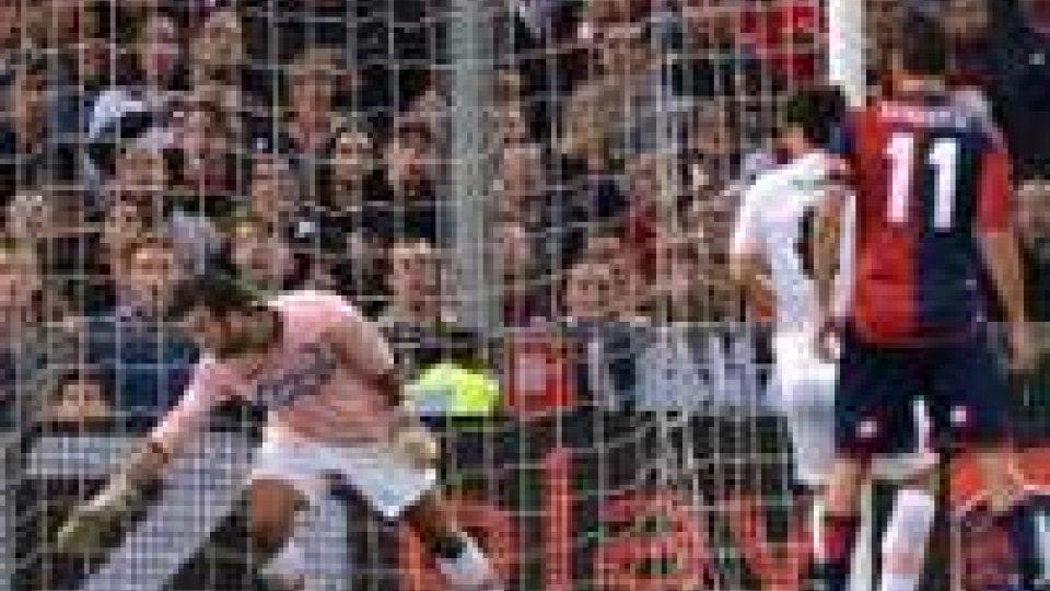 Il gol di Borriello su assist di Jorquera