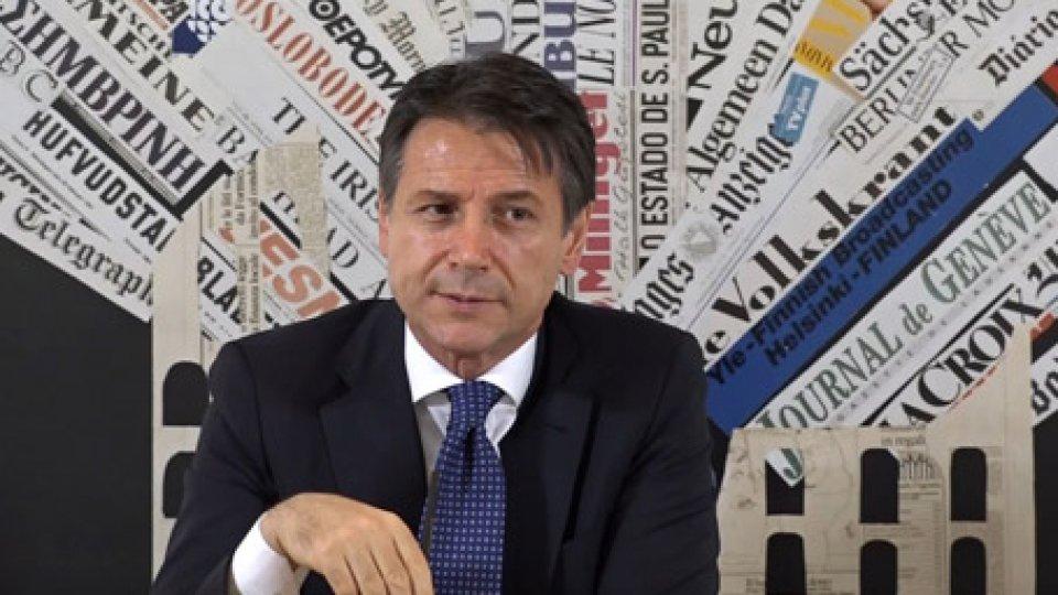 """Giuseppe ConteIl presidente Conte alla Stampa Estera: """"Non ci sarà mai una Italexit"""""""