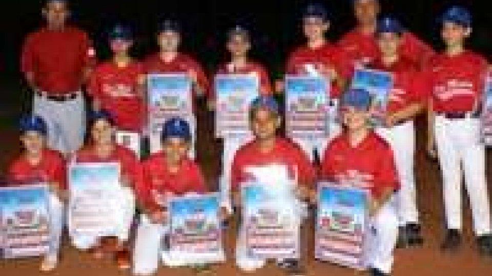 Stagione trionfale per i ragazzi del San Marino Baseball Club