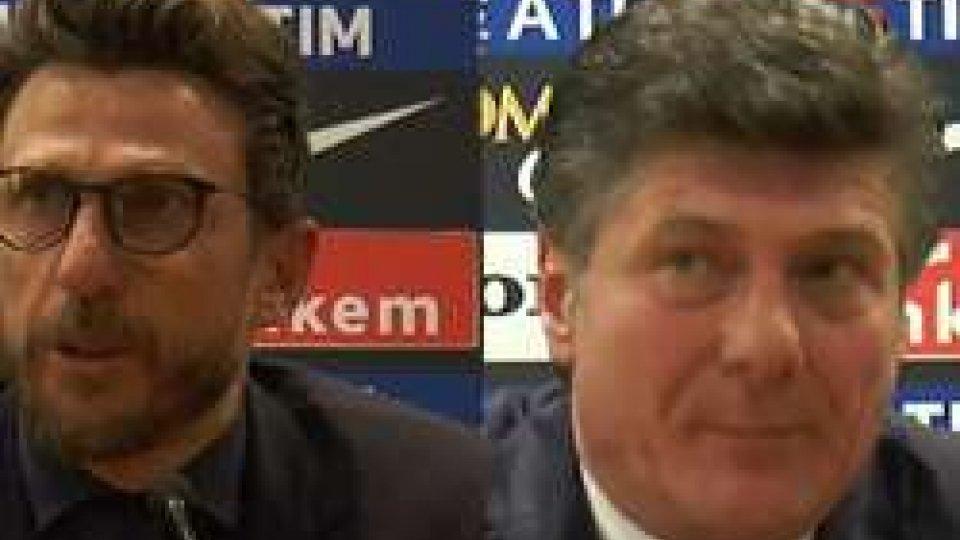 Di Francesco e MazzarriRoma-Torino 3-0, il commento di Di Francesco e Mazzarri