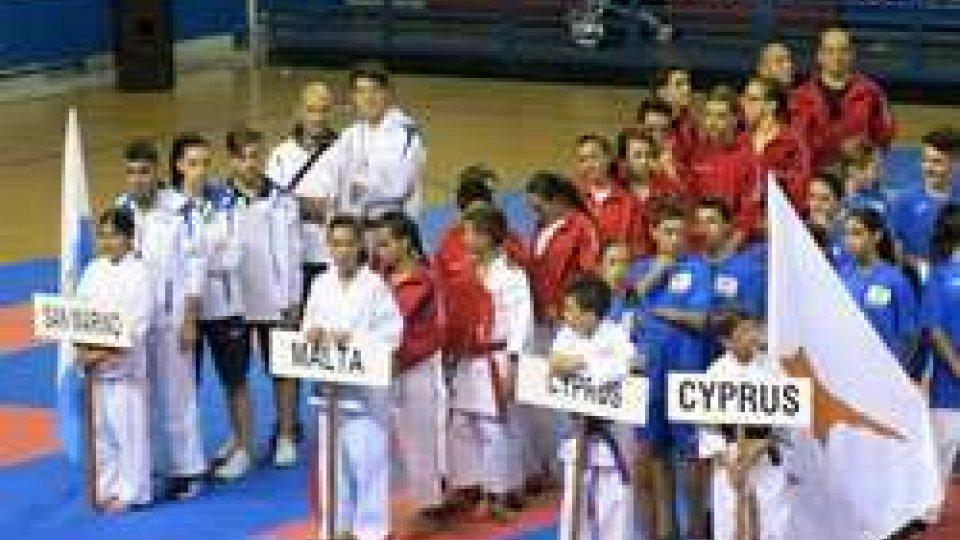 Quattro medaglie per la Nazionale biancazzurra ai Giochi dei Piccoli Stati di karate