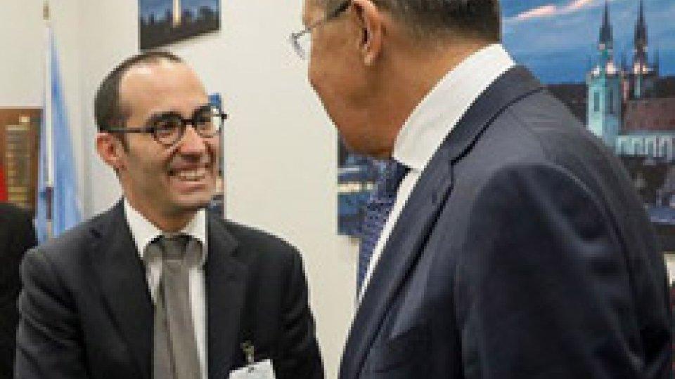 Nicola Renzi e Sergej Lavrov