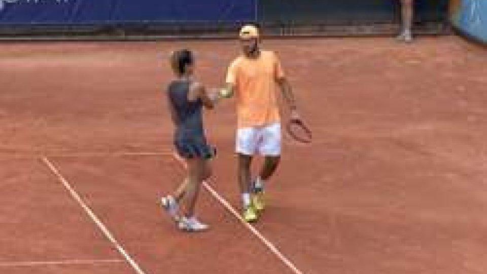 Tennis, medaglia sicura nel doppio misto: De Rossi/Barbieri in semifinaleTennis, medaglia sicura nel doppio misto: De Rossi/Barbieri in semifinale