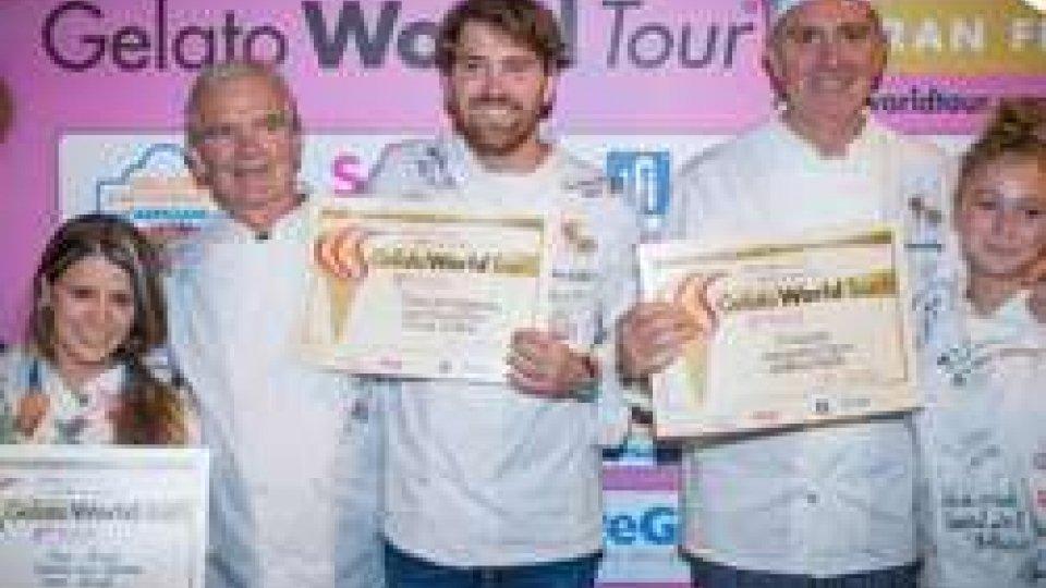 """Rimini: """"Pistacchio"""" di Alessandro Crispini della Gelateria Crispini di Spoleto vince la Finale Mondiale di GELATO WORLD TOUR"""