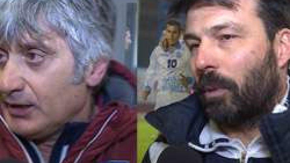 Daniele Arrigoni e Filippo MasoliniAmichevole Rappr. San Marino-Italia: il commento degli allenatori Daniele Arrigoni e Filippo Masolini