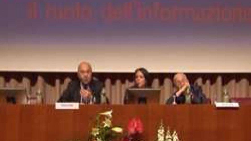 Sergio Lepri e Paolo MieliConvegno Libera Stampa: lezione magistrale di giornalismo da Sergio Lepri e Paolo Mieli