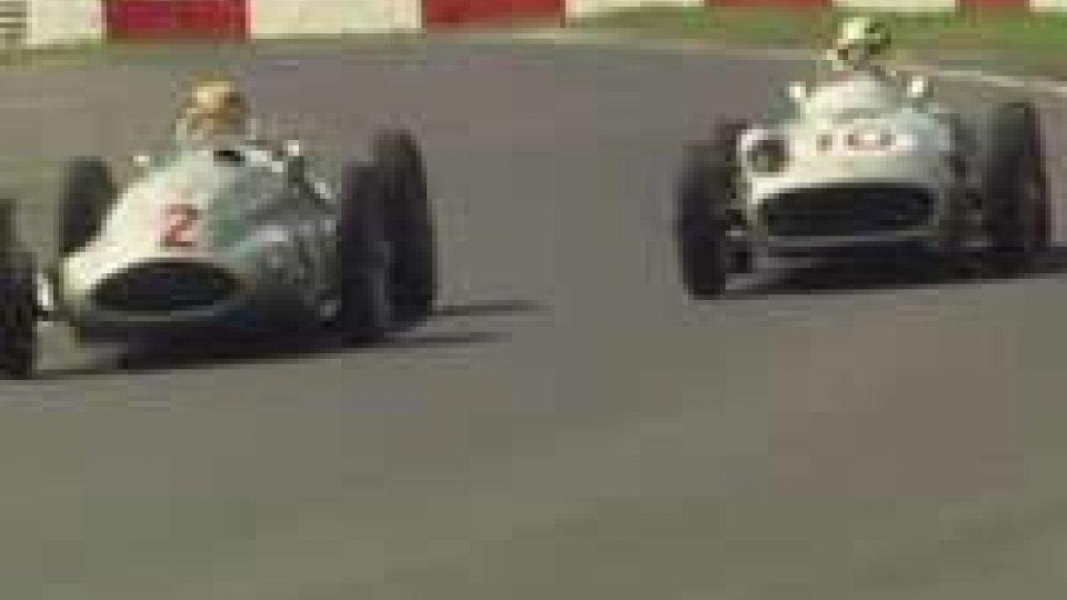 Hamilton e Rosberg al Nurburgring con due Mercedes storiche