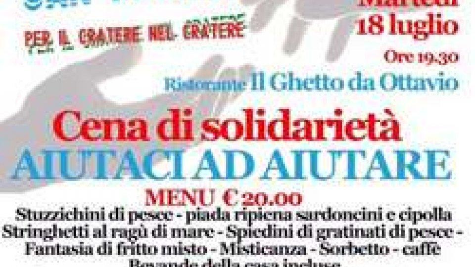 """Associazione SAN MARINO-ITALIA: domani sera cena di solidarietà """"aiutaci ad aiutare"""" pro terremotati"""