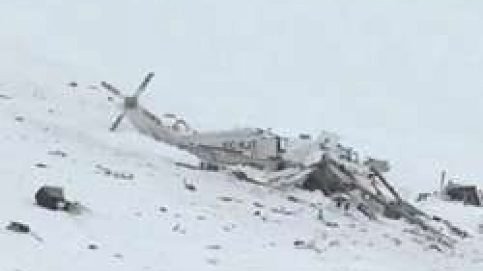 Elicottero precipitato: il maltempo probabilmente alla base dell'incidente