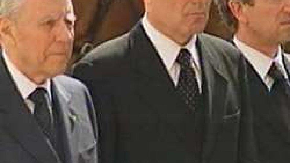 Carlo Azeglio Ciampi con Alberto Cecchetti e Gino Giovagnoli